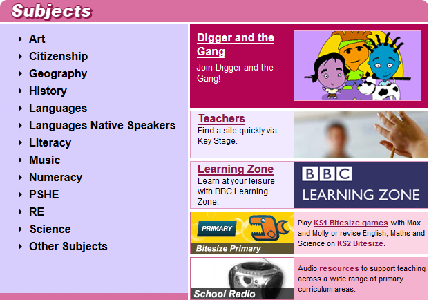 BBC School Websites